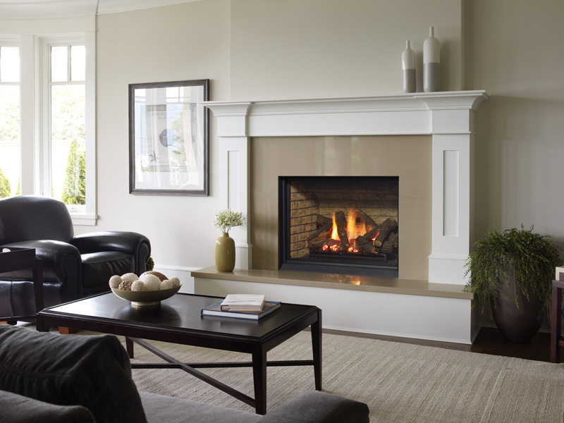Gas Fireplace - B36XTCE - Brick Panels