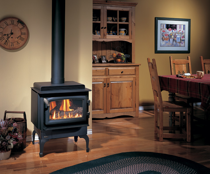 Gas Stove - C34 - Black Cast Iron Legs