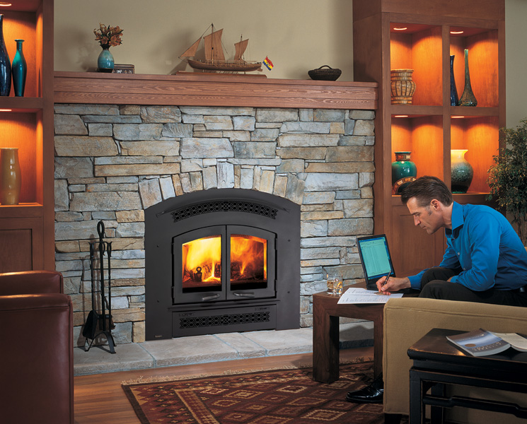 Wood Fireplace - EX90 Excalibur Front
